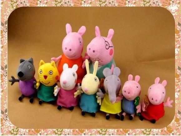 Brinquedos Peppa Família com dois Personagens - Peppa e Ma.